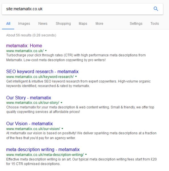 example of metamatix meta descriptions